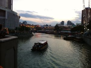 This is the beautiful Singapore River, which is actually visible from our window in the hotel!